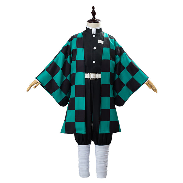 Anime Demon Slayer Kimetsu no Yaiba Kamado Tanjirou Uniform Outfit Cosplay Costume for Kids Children