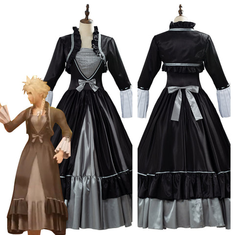 Final Fantasy VII Remake Game Women Outfit Cloud Strife Cosplay Costume
