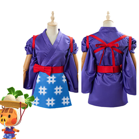 Game Animal Crossing Daisy Mae Cosplay Costume Women Kimono Outfit Halloween Carnival Costume
