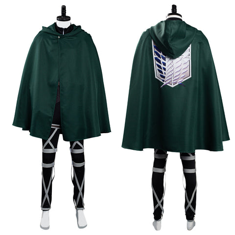 Attack on Titan Shingeki no Kyojin Scouting Legion Halloween Carnival Suit Cosplay Costume