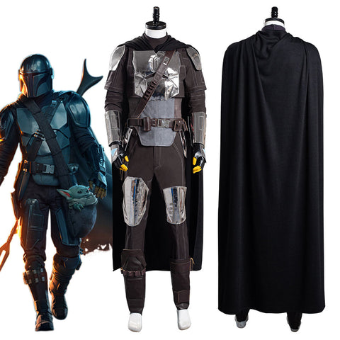 The Mandalorian S2 Beskar Armor Coat Uniform Outfits Halloween Carnival Suit Cosplay Costume