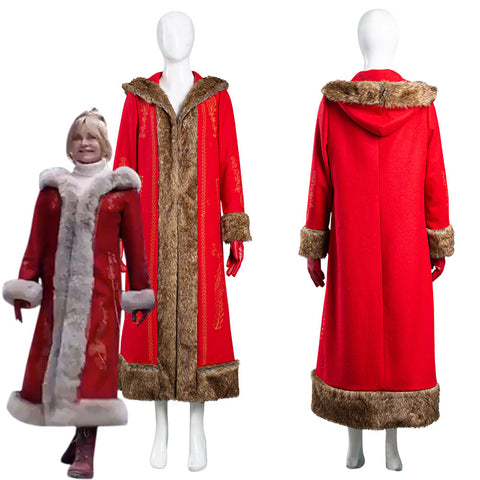 The Christmas Chronicles 2 Mrs. Claus Women Coat Halloween Carnival Suit Cosplay Costume