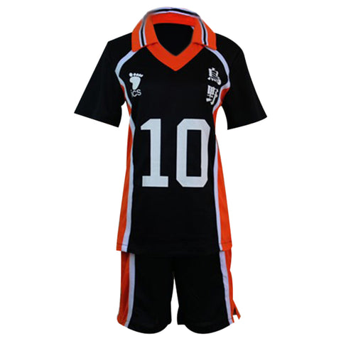 Haikyuu Cosplay Costume Karasuno Koukou High School Volleyball Club Hinata Shoyo Sportswear Shirt Jerseys