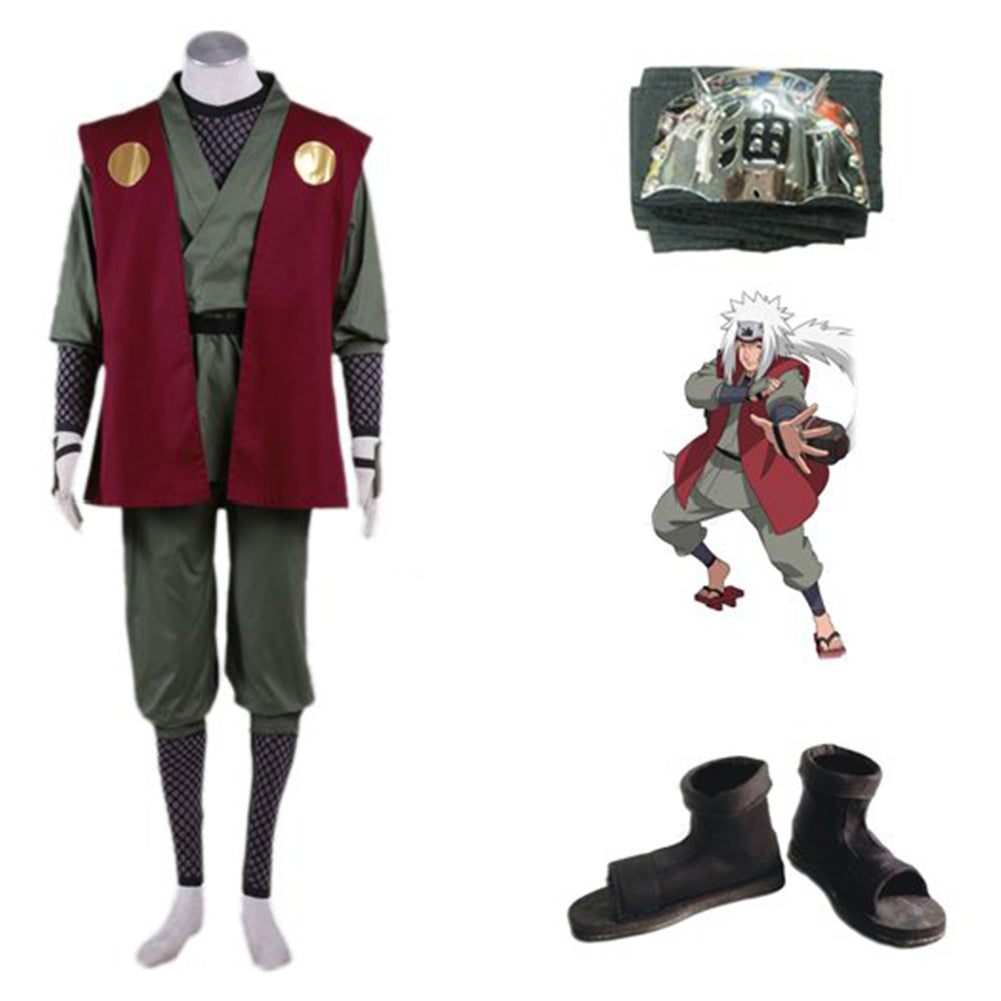 Naruto Jiraiya Whole Set Cosplay Costume