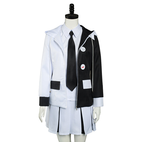 Danganronpa Monokuma Shirt Skirt Uniform Outfits Halloween Carnival Suit Cosplay Costume