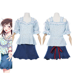 Rent A Girlfriend Ichinose Chizuru/Mizuhara Chizuru Women Dress Outfits Halloween Carnival Suit Cosplay Costume