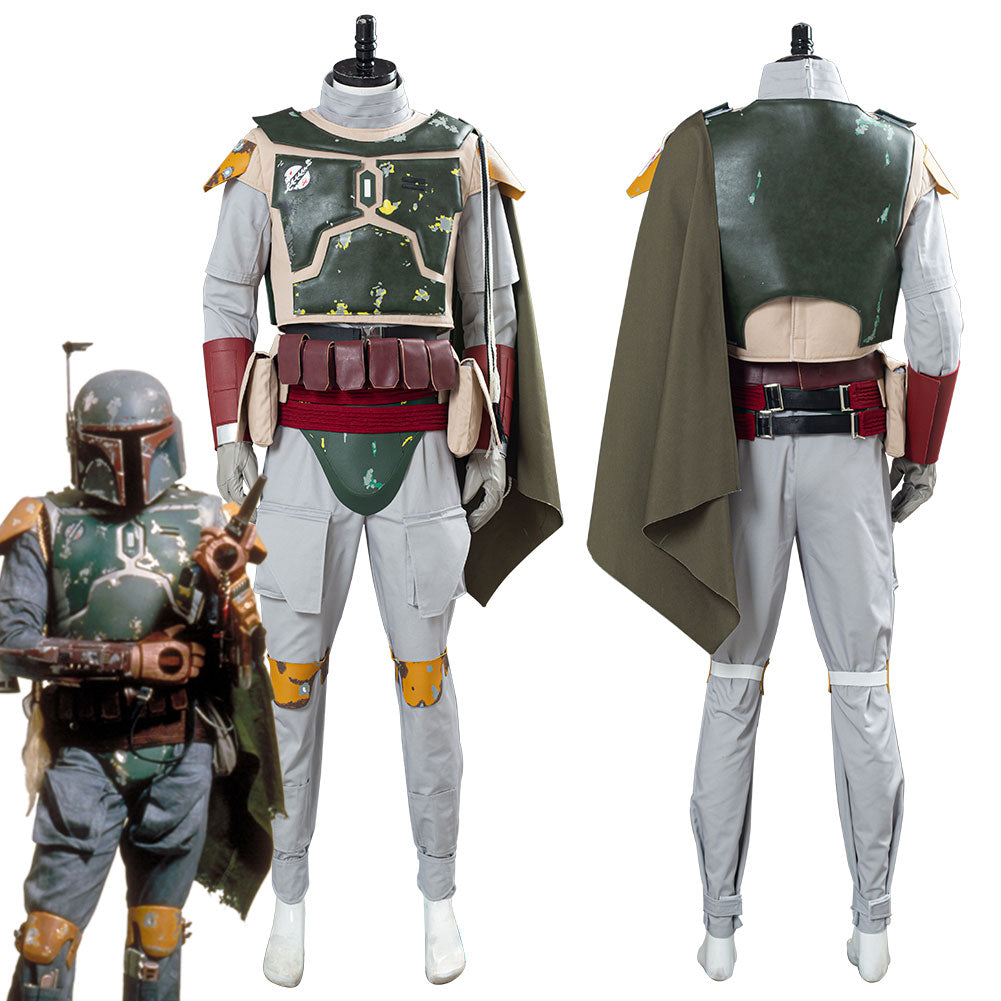 Star Wars Boba Fett Men Uniform Outfit Halloween Carnival Suit Cosplay Costume