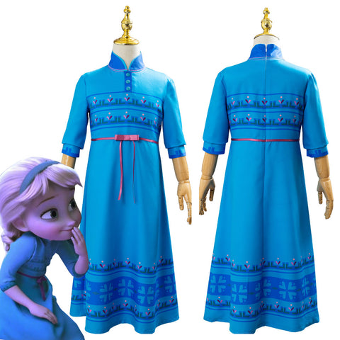 Frozen 2 Princess Elsa Fancy Dress Up For Kids Girls Cosplay Costume