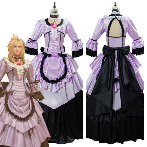 Game Final Fantasy VII Remake Cloud Strife Women Dress Halloween Carnival Outfit Cosplay Costume