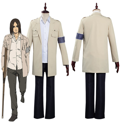 Attack on Titan  The Final Season Eren Jaeger Coat Shirt Outfits Halloween Carnival Costume Cosplay Costume
