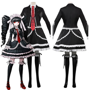 Anime Danganronpa V3 Celestia Ludenberg Uniform Dress Outfits Halloween Carnival Costume Cosplay Costume