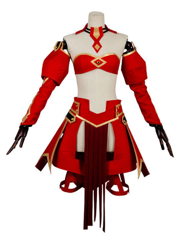 Fate/Apocrypha FA  Saber of Red Mordred Dress Cosplay Costume