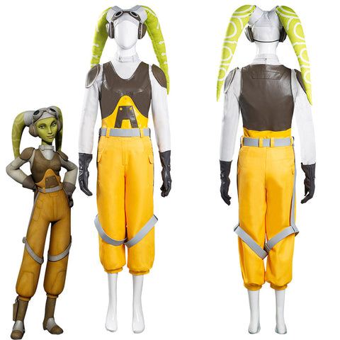 Star Wars Rebels Hera Syndulla Women Vest Pants Outfits Halloween Carnival Suit Cosplay Costume