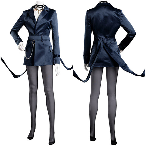 League of Legends LOL KDA Agony's Embrace Evelynn Coat Belt Outfits Halloween Carnival Suit Cosplay Costume