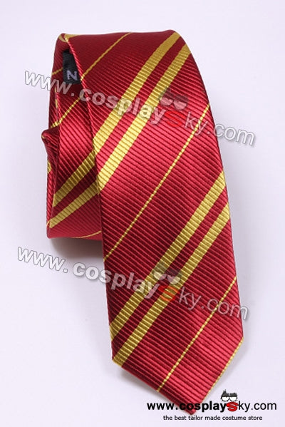 Harry Potter Gryffindor Scarlet & Gold Tie Vintage Silk
