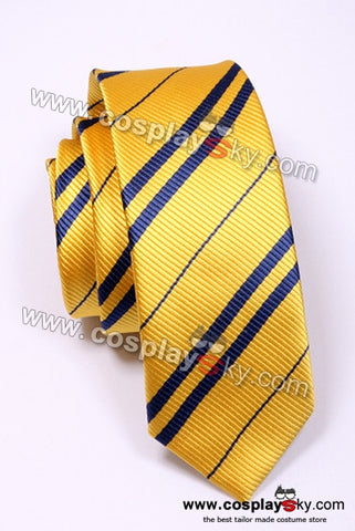 Harry Potter Hufflepuff Yellow & Blue Tie Vintage Silk