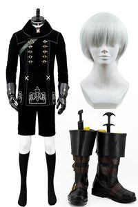 NieR:Automata 9S Cosplay Costume + Wigs + Shoes