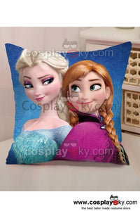 Frozen Elsa and Anna Throw Pillow Back Cushion