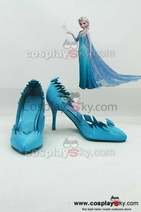 Frozen Snow Queen Elsa Cosplay Shoes