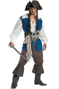 Pirates Of The Caribbean Jack Sparrow Outfit Cosplay Costume Men Ver.