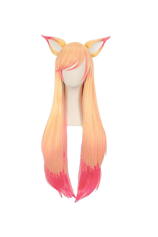 LoL League of Legends Star Guardian Ahri Cosplay Wig