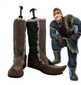 Frozen Prince Kristoff Boots Cosplay Shoes