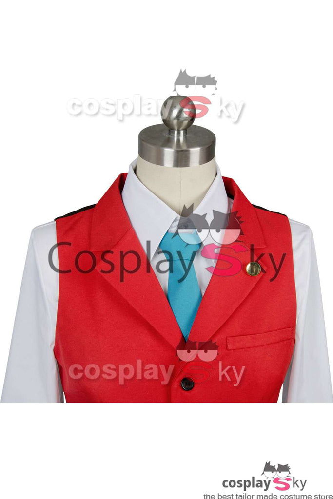 Ace Attorney Apollo Justice Red Suit Outfit Cosplay Costume Custom Made
