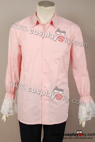 Alice In Wonderland Johnny Depp Mad Hatter pink shirt Costume