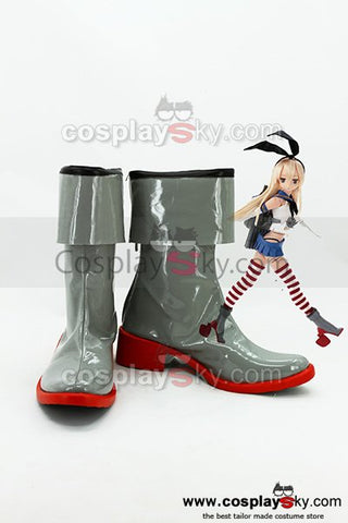 Kantai Collection Japanese Destroyer Shimakaze Cosplay Boots Shoes New
