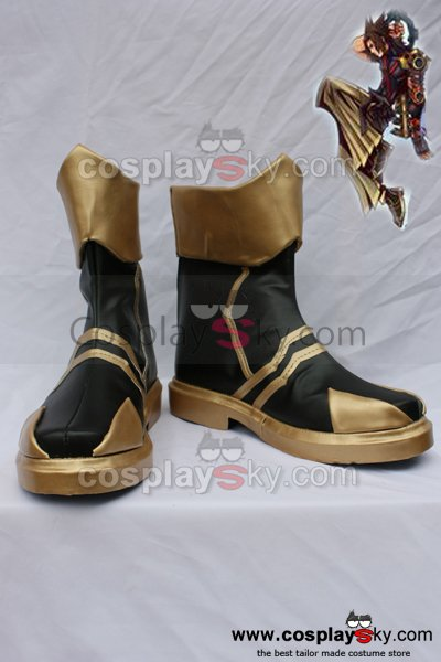 Kingdom Hearts Birth by Sleep Terra Cosplay Boots Shoes