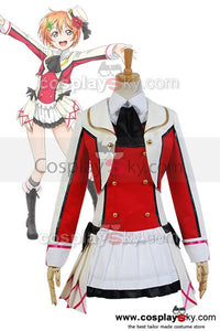 LoveLive! School Idol Project Rin Hoshizora Cosplay Uniform Dress Costume