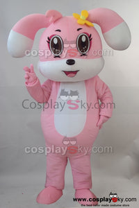 Lovely Pink Rabbit  Mascot Cosplay Costume Adult Size
