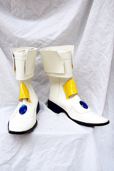 Magical Girl Lyrical Nanoha Cosplay Boots Shoes White