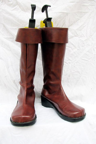 Mobile Suit Gundam Cosplay Boots Shoes Red Brown