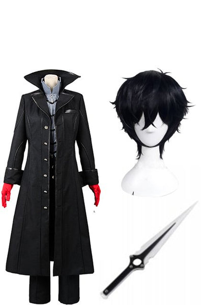 Persona 5 Joker Cosplay Costume+Wig+Sword