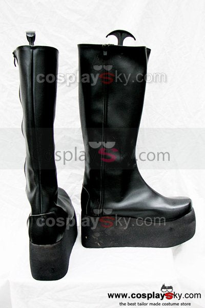 Punk Rock Simple Black Flat Boots Custom-Made