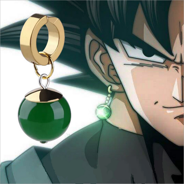 Dragonball Super Dragon Ball Black Son Goku Zamasu Time Ring Supreme Kai Earring