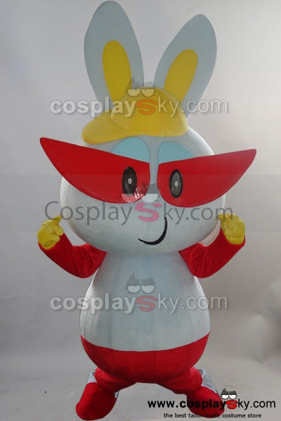 red glasses rabbit Mascot Costume adult size Cartoon suit
