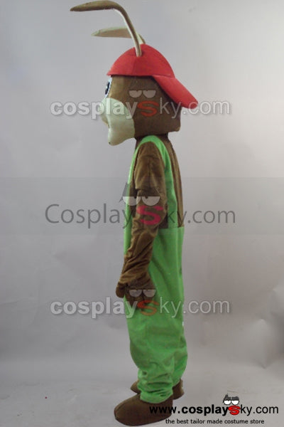 Red Hat Bunny Rabbit Mascot Costume Fancy Dress