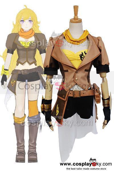RWBY Yellow Trailer Yang Xiao Long Cosplay Costume