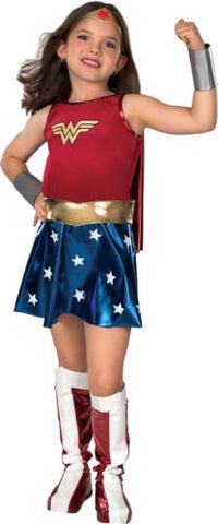 Wonder Woman Kid Dress Cosplay Costume Party Outfit For Child