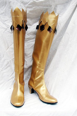 Sailor Moon Cosplay Boots Shoes Golden yellow