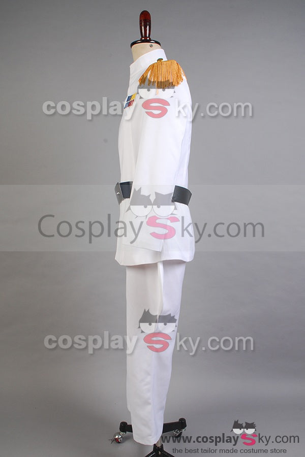 Details about  /Star Wars Imperial Officer Grand Admiral Thrawn Cosplay White Uniform Costume