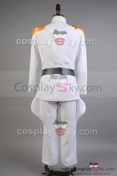 Star Wars Imperial Officer White Grand Admiral Uniform Cosplay Costume