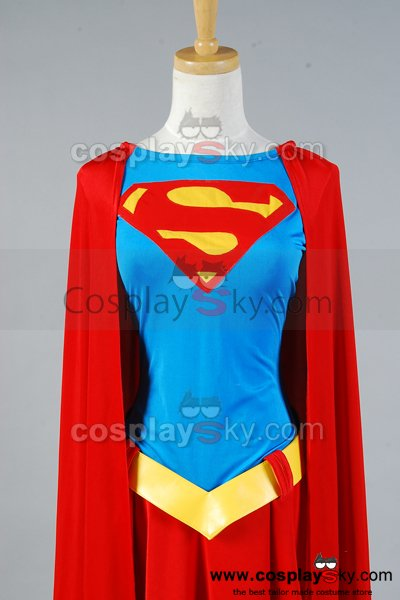 Supergirl One-piece Dress Belt Cosplay Costume