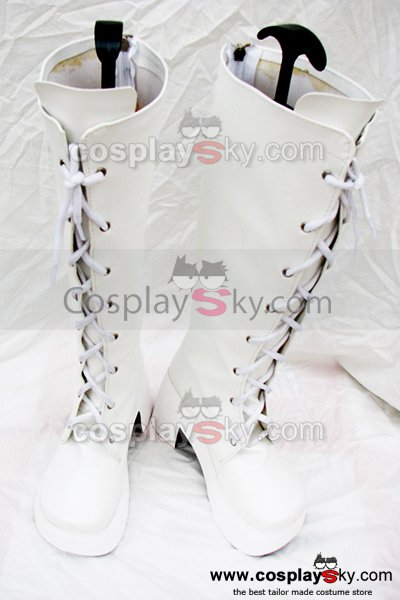 Sweet Classical White high-heeled Boots Custom Made