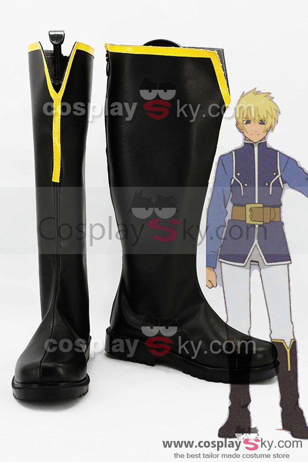 Tales of Vesperia: The First Strike Animated Film Flynn Scifo Boots Cosplay Shoes