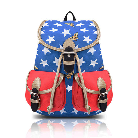 Wonder Woman Oxford Backpack Bucket Bag Cosplay Accessories