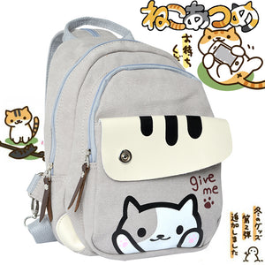 Neko Atsume Casual Canvas Backpack School Bag