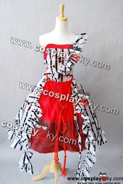 Tim Burton Alice In Wonderland Alice Red Court Um Dress Costume